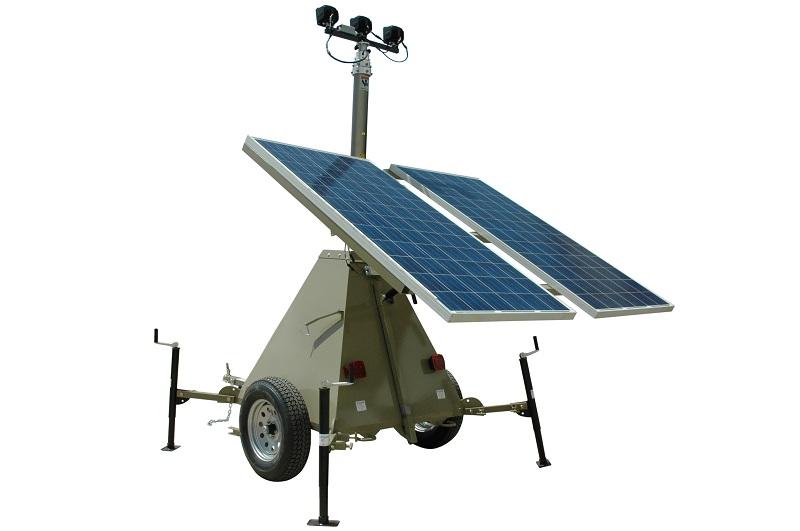 600 Watt Solar Power Generator with Light Tower Mast 2