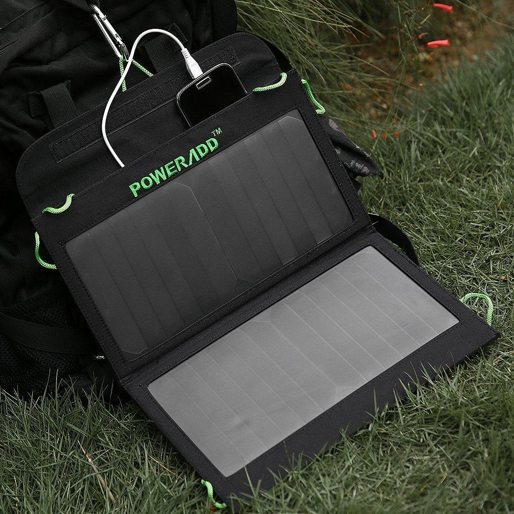 Poweradd 14W Dual-Port Foldable Solar Panel Portable Charger