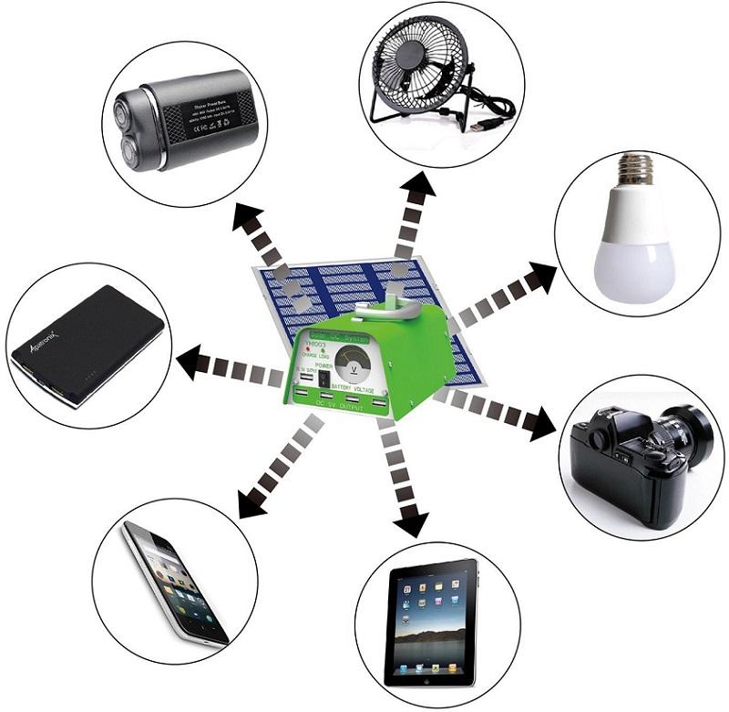 Portable Solar Lighting Kit Review  sc 1 st  Portable Solar Power & Portable Solar Lighting Kit: HKYH Solar Lighting Kit with Solar DC ... azcodes.com