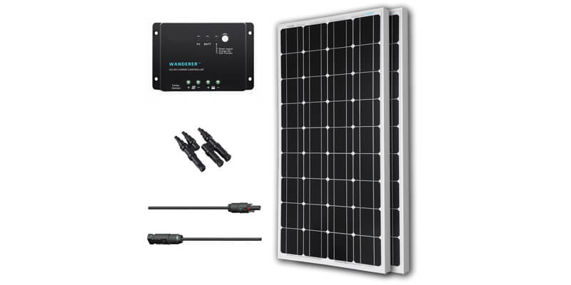 Best portable solar panel kits for rvs and camping for Best solar panels 2016