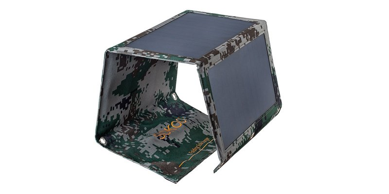 sokoo folding solar phone charger 22 watts camouflage