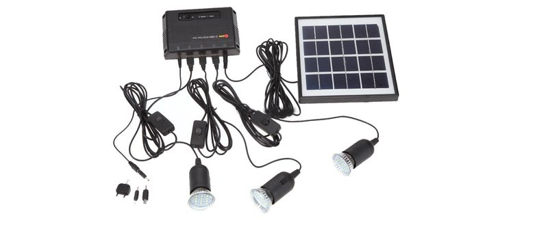 4w solar lighting kit by globe house product