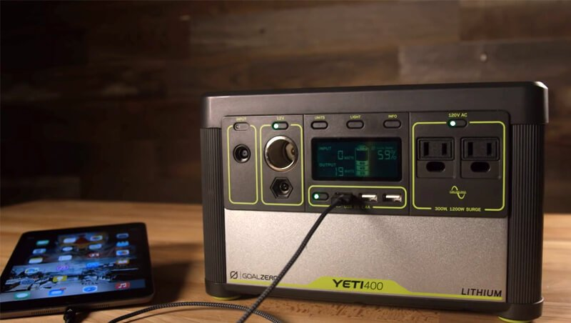 Goal Zero Yeti 400 Lithium Solar Power Bank