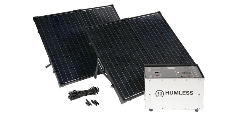 Humless Portable Solar Generator 1300 watt huors
