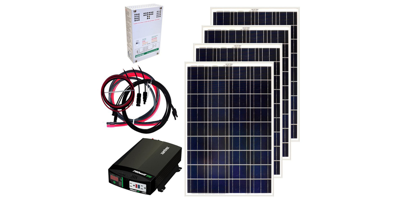 grape solar 400-watt off-grid solar panel kit