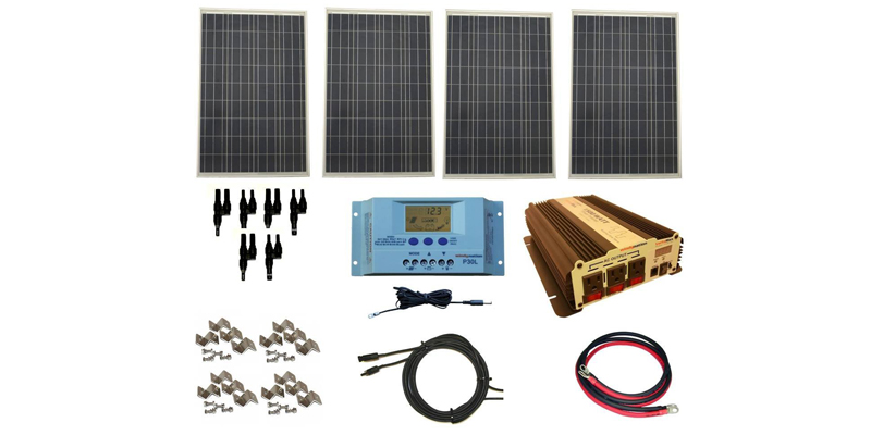 windynation 400 watt solar kit with 1500W inverter