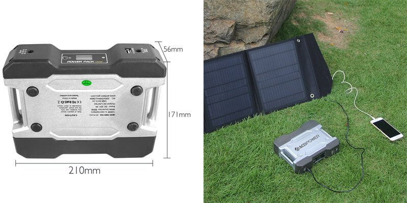ACOPOWER Solar Generator Portable Power, Compact 111Wh