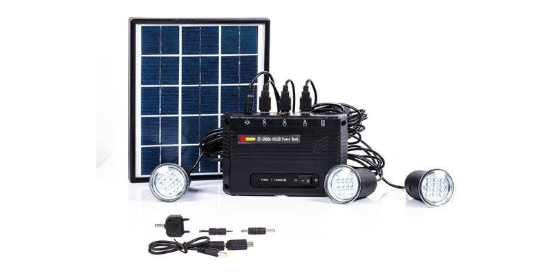 B-right 4W Solar Panel Lighting Kit