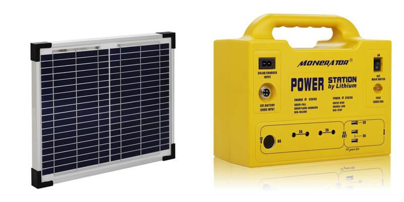 Monerator Gusto 10 with Solar Panel