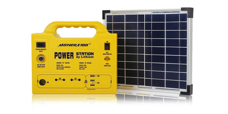 Monerator Gusto Solar Generator with Solar Panel
