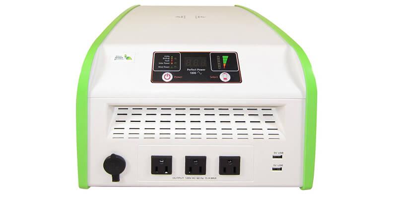 Nature PowerPak 1800-Watt Portable Solar Generator Power Pack