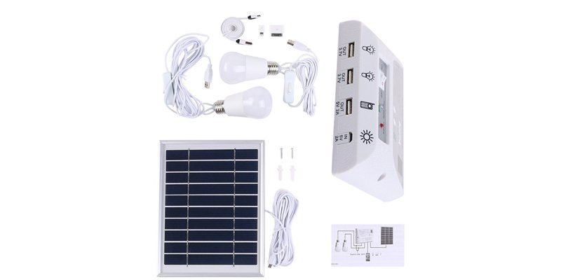 Poppap Solar Energy Kit Lighting System