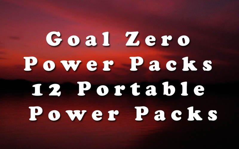 Goal Zero Power Packs