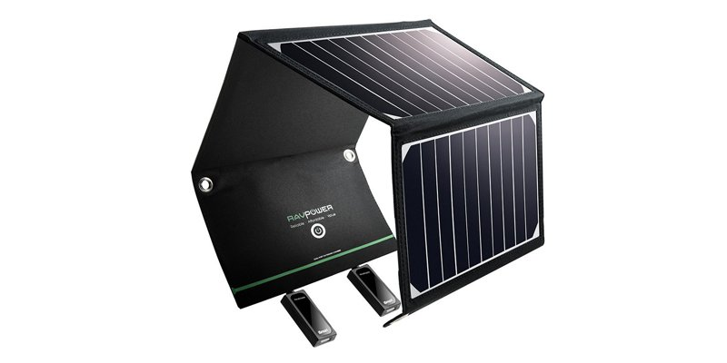 Solar Charger RAVPower 16W Solar Panel with Dual USB Port