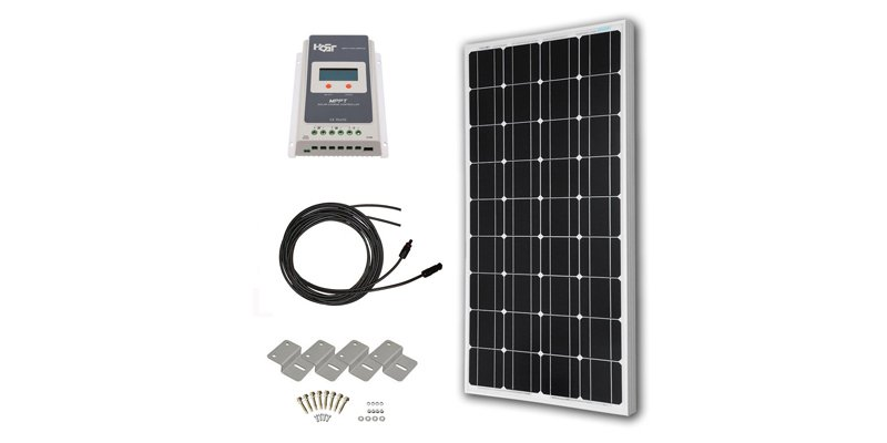 hqst 100w solar panel with MPPT charge controller