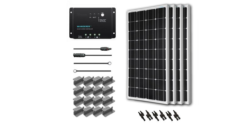 renogy 400 watt solar kit with wanderer charge controller
