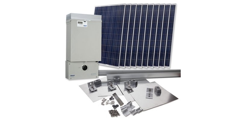 Grape Solar 2300-Watt Grid-Tied Solar System Kit