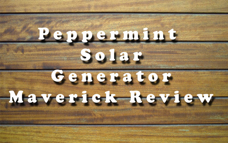 Peppermint Solar Generator