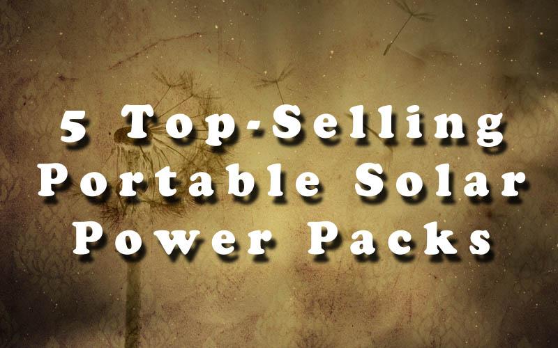 Portable Solar Power Packs