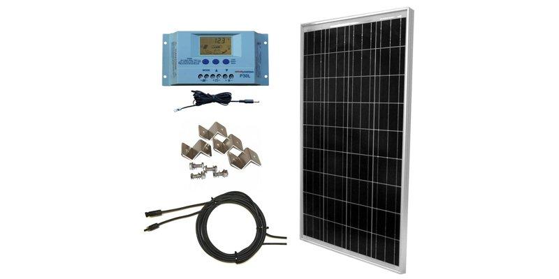 WindyNation 100W Solar Panel Off-Grid RV Kit