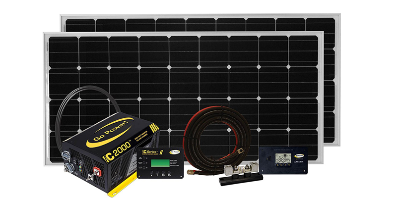 go power solar elite charging system (320 watts)
