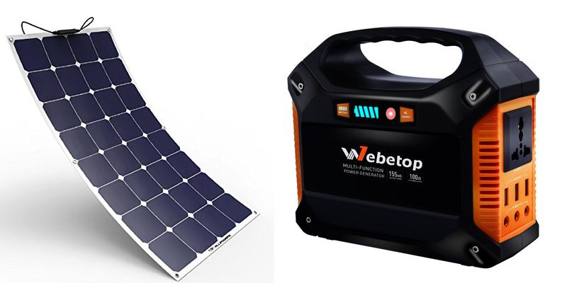 webetop 100-watt portable solar generator