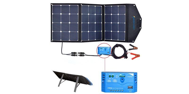 ACOPOWER 105W Foldable Solar Panel Kit