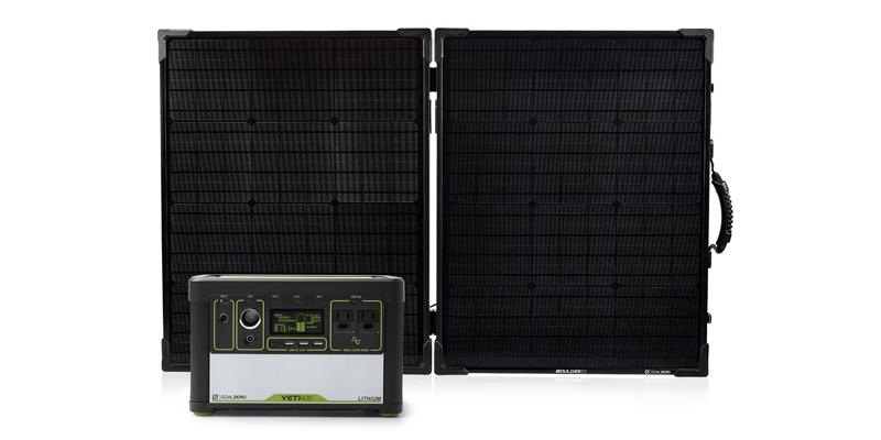 goal zero yeti 400 lithium solar generator kit