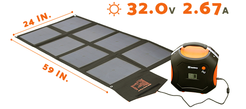 jackery power pro solar generator with solar panel