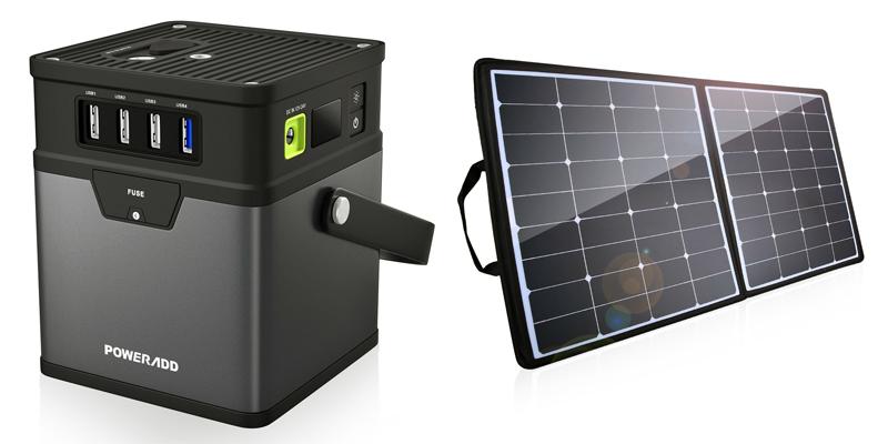 poweradd 180wh portable solar generator