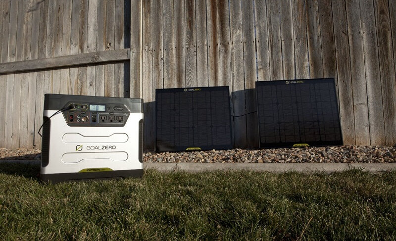 Goal Zero Yeti 1250 solar generator kit review