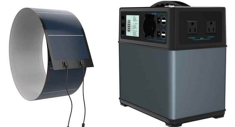 PowerOak Solar Generator with PowerOak 72W Flexible Solar Panel