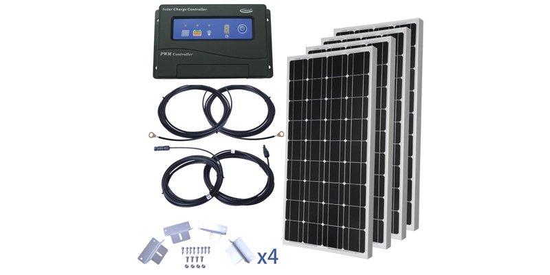 komaes 400 watt solar panel starter kit