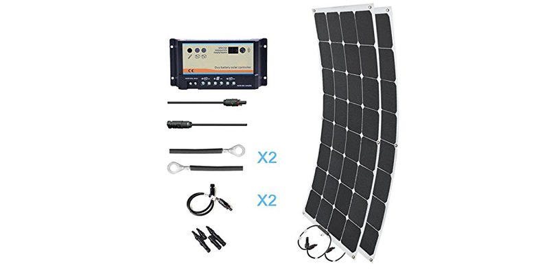HQST 200W Mono Solar RV Marine Kit