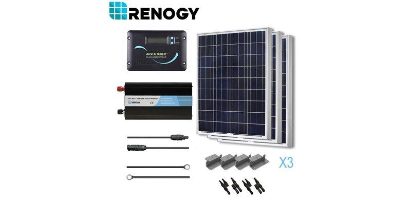 Renogy 300W Poly Solar Battery Ready Kit