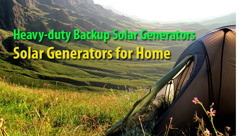 Solar Generators for Home and Emergency