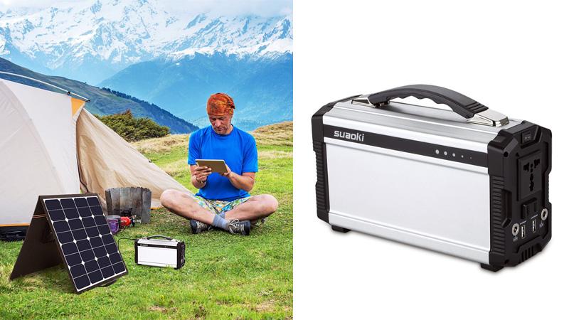 Suaoki Portable Solar Generator: Suaoki 60W Folding Solar Panel Kit