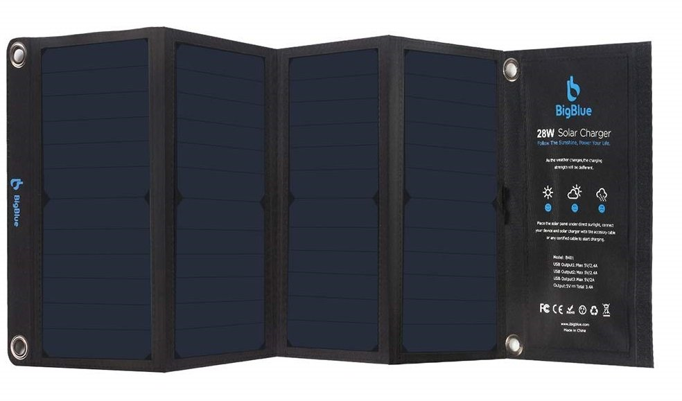 BigBlue 28W Foldable Solar Charger