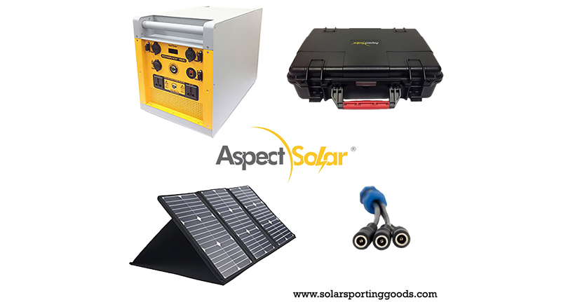 Aspect Solar's PowerRack 1500 Solar Generator Kit