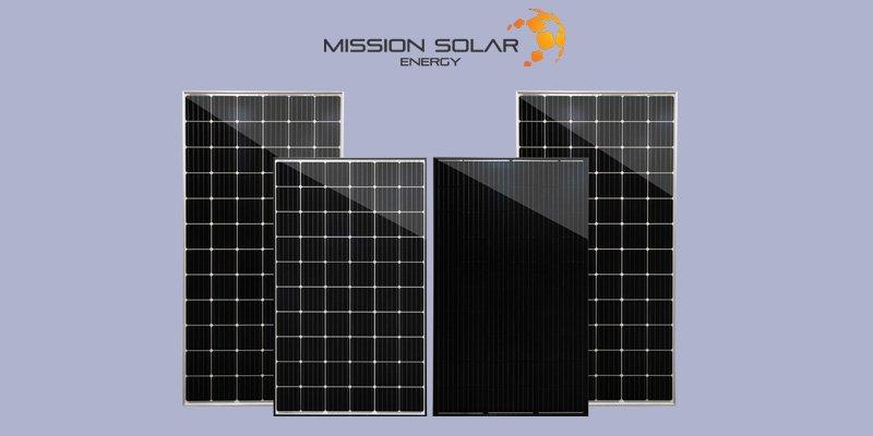 Mission Solar Energy PERC solar panels